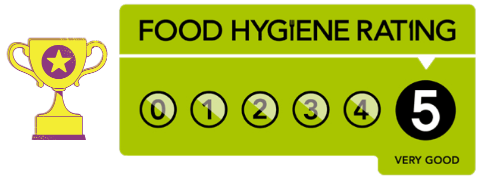 5 star Food Hygiene rating!!